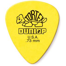 Dunlop 418R.73 Tortex Standard .73mm Guitar Picks, 72-Pack Yellow