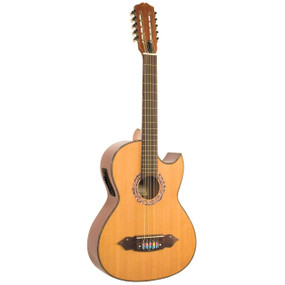 Lucida LG-BQ1-E Acoustic Electric Bajo Quinto w/ 4-Band EQ, Natural