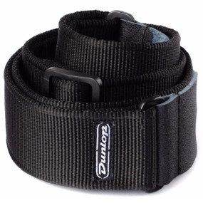 Dunlop D38-09BK Nylon Adjustable Classic Guitar Strap, Black