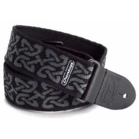 Dunlop D38-14GY Adjustable Nylon Guitar Strap, Celtic Grey
