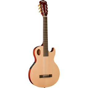 Wasbhurn EACT42S Thinline Nylon String Classical Acoustic Electric Guitar