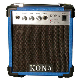 Kona 10 Watt Guitar Amp KCA15BL Guitar Amplifier , Blue