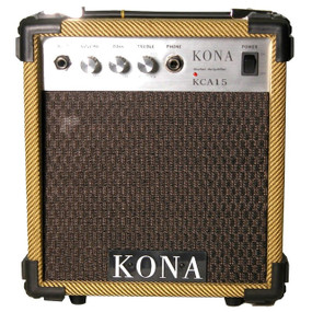 Kona 10 Watt Guitar Amp KCA15TW Classic Guitar Amplifier, Tweed
