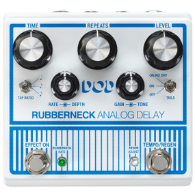 DigiTech DOD Rubberneck Analog Delay Guitar Effects Pedal w/ Tap Tempo