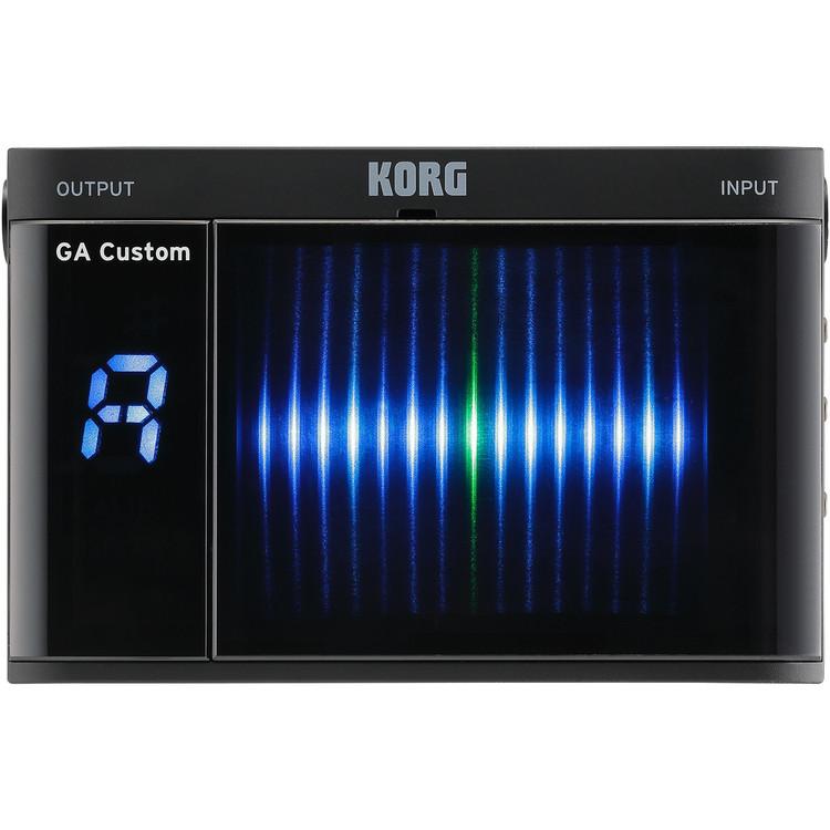 Korg Custom Shop GACS GA Custom Handheld Chromatic Guitar & Bass Tuner, Black
