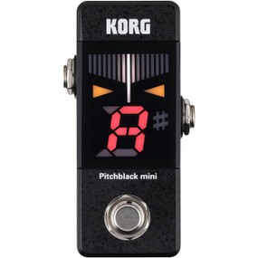 Korg PB01MINI Pitchblack Mini Pedal Tuner for Guitar and Bass, Black