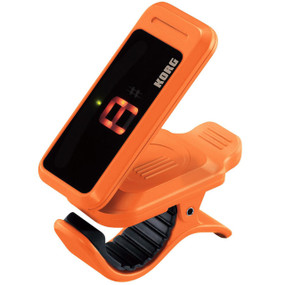 Korg PC1-OR Pitchclip Chromatic Clip-On Tuner for Guitar and Bass, Orange