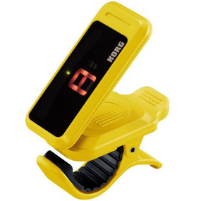 Korg PC1-YE Pitchclip Chromatic Clip-On Tuner for Guitar and Bass, Yellow