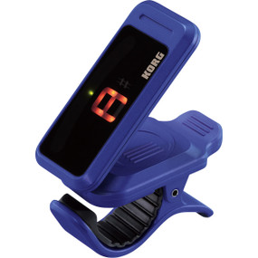 Korg PC1-IN Pitchclip Chromatic Clip-On Tuner for Guitar and Bass, Indigo