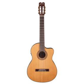 Jasmine JC27CE J Series Classical Cutaway Acoustic Electric Guitar, Natural (JC27CE-NAT)
