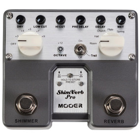 Mooer ShimVerb Pro Twin Series Digital Reverb Guitar Effects Pedal, TVR1
