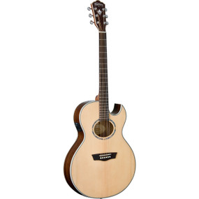 Washburn EA20SNB Nuno Bettencourt Solid Top Thin Body Jumbo Acoustic Electric Guitar