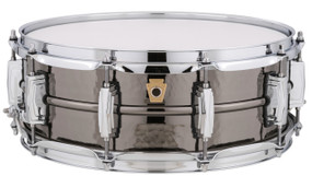 """Ludwig LB416K Black Beauty 5"""" x 14"""" Hammered Shell Snare Drum w/ Imperial Lugs"""