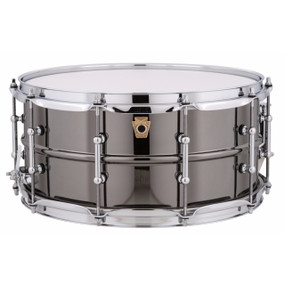 """Ludwig LB417T Black Beauty 6.5""""x 14"""" Smooth Brass Snare Drum w/ Tube Lugs"""