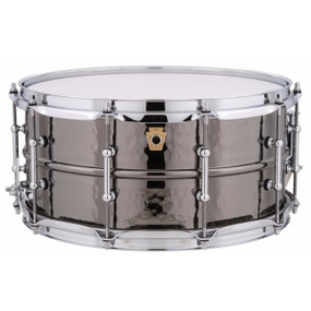 """Ludwig LB417KT Black Beauty 6.5""""x 14"""" Hammered Brass Snare Drum w/ Tube Lugs"""