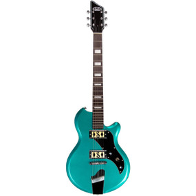 Supro 2020TM Island Series Westbury Solid-Body Electric Guitar, Turquoise Metallic