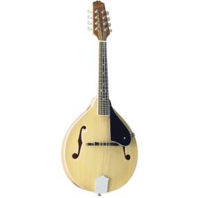 Savannah SA-120-NA All Solid Louisville Flamed A-Style Mandolin, Natural