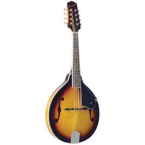 Savannah SA-120 All Solid Louisville Flamed A-Style Mandolin, Sunburst