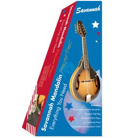 Savannah SA-KIT A-Style Mandolin Starter Kit, Sunburst w/ GigBag, Picks, DVD, Pitchpipe