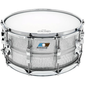 "Ludwig LM405K Acrolite Hammered Aluminum Shell Snare Drum w/ Twin Lugs, 6.5""x 14"""