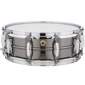 "Ludwig LB416 Black Beauty Snare Drum, Smooth Brass Shell w/ Imperial Lugs, 5""x 14"""