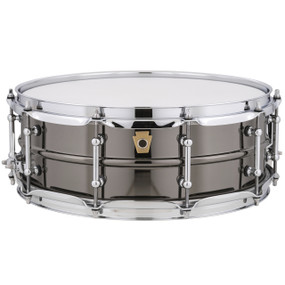 "Ludwig LB416T Black Beauty Snare Drum, Smooth Brass Shell w/ Tube Lugs, 5""x14"""