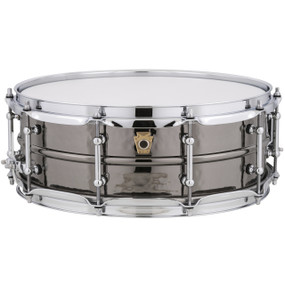 "Ludwig LB416KT Black Beauty Hammered Brass Shell Snare Drum w/ Tube Lugs, 5""x14"""