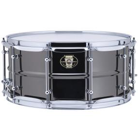 "Ludwig LW6514C Black Magic Snare Drum w/ Chrome Hardware & Tube Lugs, 6.5""x14"""