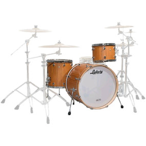 Ludwig LSS030XTK Signet 105 GigaBeat 3-Piece Shell Pack, Indian Teak