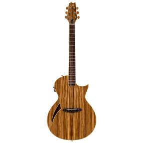 ESP LTD TL-6Z ThinLine Semi-Hollow Body Acoustic Electric Guitar, Zebra Wood Natural