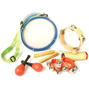 GP Percussion GPBXPD Beginner 6-Piece Educational Percussion Pack for Kids