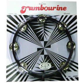 "GP Percussion MT101BK Professional 10"" Double Row Tambourine, Black"