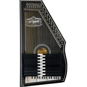 Oscar Schmidt OS73B 15-Chord 1930's Reissue Autoharp, Satin Black