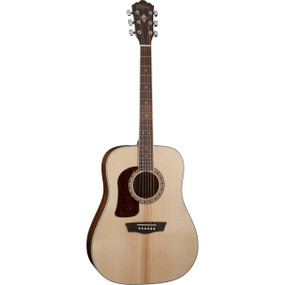 Washburn HD10SLH Solid Top Left-Handed Acoustic Electric Guitar, Natural