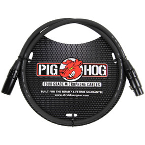 Pig Hog PHM3 High Performance 8mm Microphone Cable, 3ft XLR