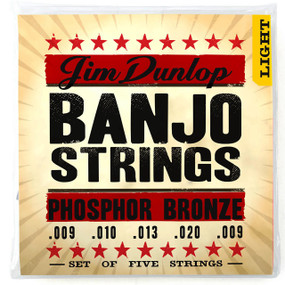 Dunlop DJP0920 Americana Series Phosphor Bronze Banjo Strings - Light