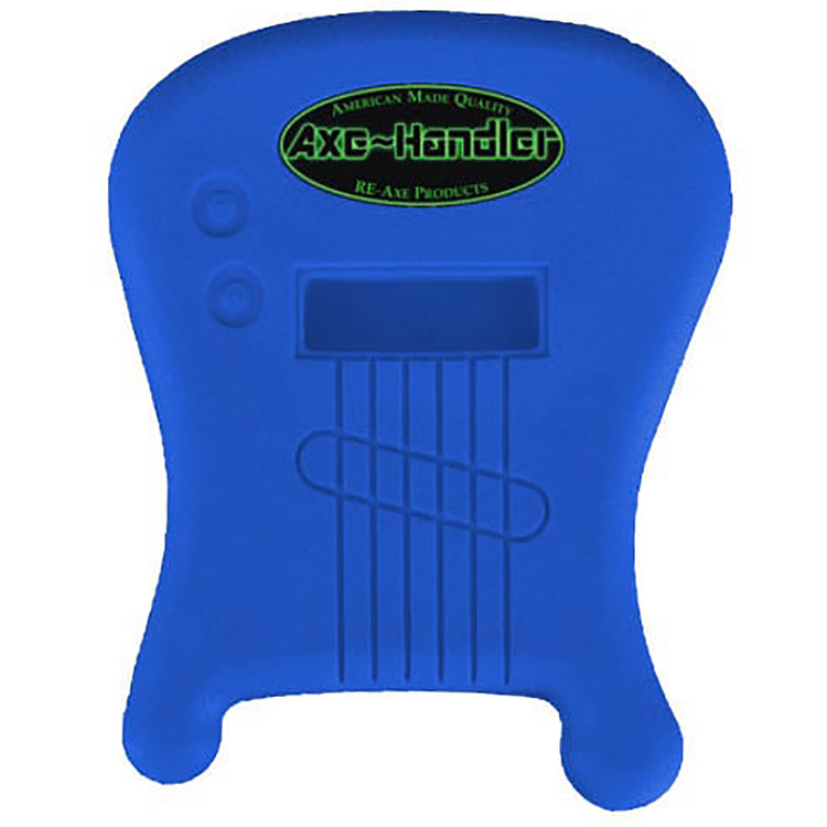 "Axe-Handler ""Strings-In"" Portable Guitar Stand w/ Pick Holder - BLUE"