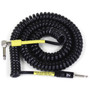 ZoZo Coiled Cable - 20ft Heavy Duty Coiled Guitar Bass & Instrument Cable, Black