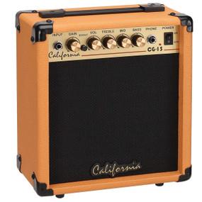 California Amps CG-15-OR Electric Guitar 15-Watt Practice Amplifier, Orange