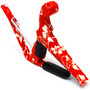 Kyser KURHA Hawaiian Series Quick-Change Ukulele Capo, Red Hibiscus