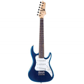AXL AS-750-1/2MBL Headliner SRO Double Cutaway 1/2 Size Electric Guitar, Metallic Blue Finish (AS-750-1/2MBL)