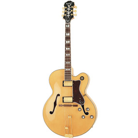 Epiphone Broadway Hollow Body Electric Guitar, Natural (Refurbished) (BROADWAY-NT)