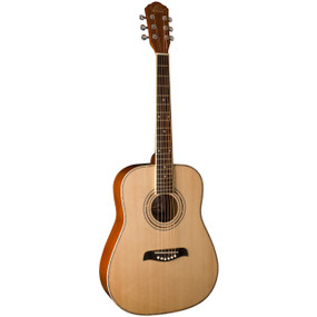 Oscar Schmidt OG1LH Left Handed 3/4 Size Acoustic Guitar, Natural