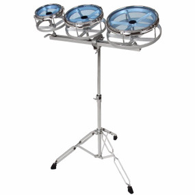 "GP Percussion RT68 Tuneable 6"", 8"", 10"" Roto Toms Drum Set w/ Adjustable Stand"