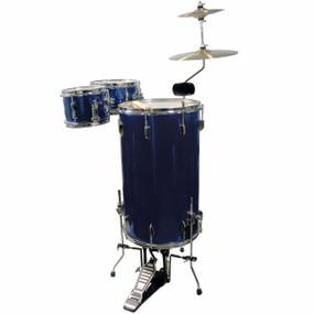 GP Percussion GP75MB Complete 3-Piece Cocktail Drum Set, Midnight Blue (GP75MB)