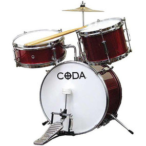 Coda 3-Piece Junior Child Size Drum Set, DS010R