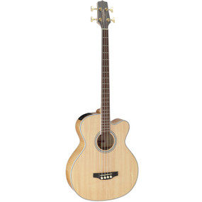 Takamine GB72CE-NAT 4-String Jumbo Acoustic Electric Bass Guitar, Natural