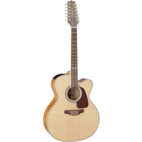 Takamine GJ72CE-12NAT Solid Top 12-String Jumbo Acoustic Electric Guitar, Natural
