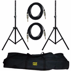 Pyle Pro PMDK-102 Pro-Audio Speaker Stand And Cable Kit for PA System (PMDK102)