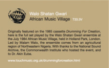 Walo Shatan Gwari - Drumming For Creation - LP Vinyl